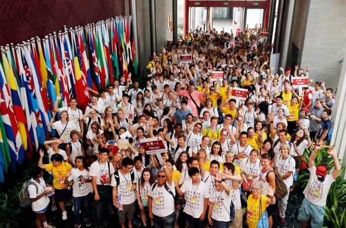Students at China summer camp